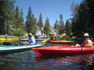 Kayaking on Lake Alpine