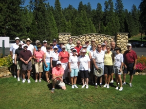 photo of golf tournament players