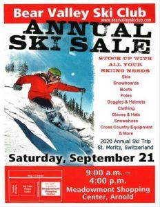 ski sale poster